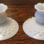 Hobnail Candle Stick Holders (3)