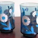 Libbey Blue Juice Glasses