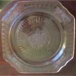 Hocking Mayfair Pink luncheon plate (5)