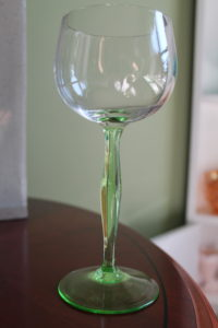 Wines Glasses with Green Stems (2)